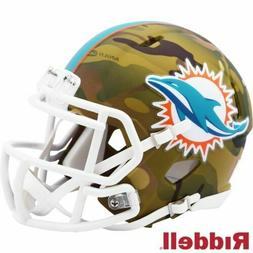 Miami Dolphins Camo Alternate Riddell Speed Mini Helmet New