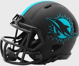 Miami Dolphins Eclipse Alternate Riddell Speed Mini Helmet N