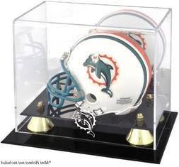 Mounted Memories Miami Dolphins Mini Helmet Display Case