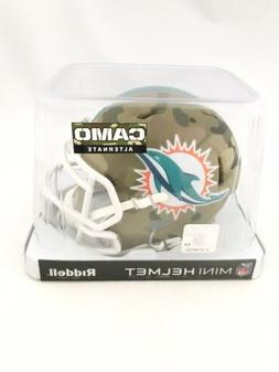 MIAMI DOLPHINS UNSIGNED RIDDELL CAMO SPEED ALTERNATE MINI HE