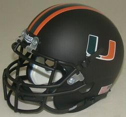 Miami Hurricanes Alternate Matte Black Schutt Mini Authentic