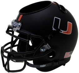 MIAMI HURRICANES NCAA Mini Football Helmet DESK ORGANIZER Of