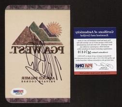 Michael Bolton signed autograph PGA West Scorecard PSA