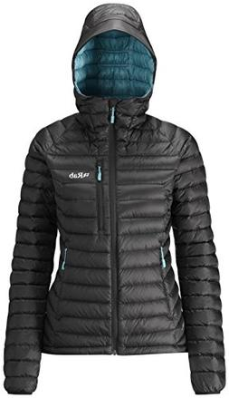 Rab Microlight Alpine Jacket - Women's Black/Seaglass Large