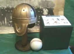 Mini Army Leather Football Helmet