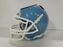 Mini football helmet desk caddy Schutt in Carolina blue/whit
