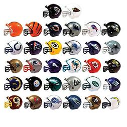MINI FOOTBALL HELMETS, COLLECTIBLE COMPLETE SET OF ALL 32 TE