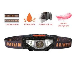Mini LED Headlamp Flashlight with Case,Waterproof Sport Head