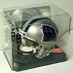 Mini Helmet Display Case Deluxe with Mirror Back - Helmet is