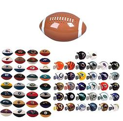 Mini Nfl Football Helmets and Nfl Eraser Puzzles Complete Se