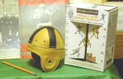 Mini Notre Dame Leather Football Helmet