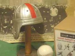Mini Ohio State Leather Football Helmet