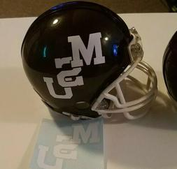 Mississippi State Football mini helmet decal vintage 1979-85