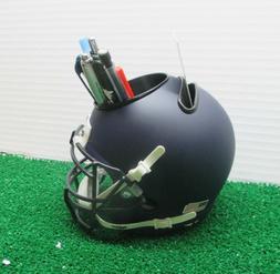 Navy Blue Flat Matte Blank Schutt Mini Football Helmet DESK