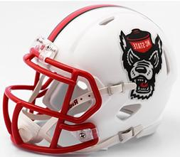 NC State Wolfpack White Tuffy NCAA Riddell SPEED Mini Helmet