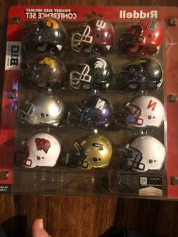 NCAA Big 10 Conference Pocket Size Helmet Set