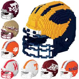 NCAA College Football Team Logo 3D Helmet Puzzle BRXLZ Set -