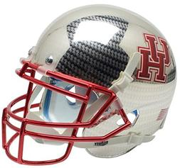 NCAA Houston Cougars Carbon Fiber at Chrome Mini Helmet, One
