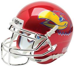 NCAA Kansas Jayhawks Red Chrome Mini Helmet, One Size, White