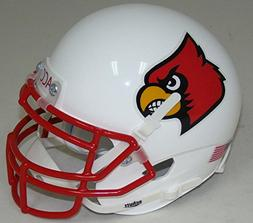 NCAA Louisville Cardinals Red Mini Helmet, One Size, White