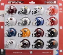 Riddell NCAA Pocket Pro Helmets, SEC Conference Set,  New