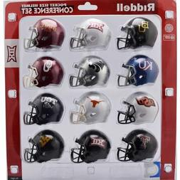 Riddell NCAA Pocket Pro Helmets, Big 12 Conference Set,  New