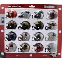Riddell NCAA Pocket Pro Helmets, Big 10 Conference Set,  New