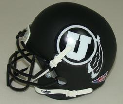 NCAA Utah Utes Collectible Alt 2 Mini Helmet, Matte Black/Wh
