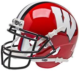 NCAA Wisconsin Badgers Red/Black Mini Helmet, One Size, Whit