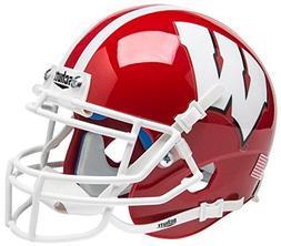 NCAA Wisconsin Badgers Scarlet Mini Helmet, One Size, White