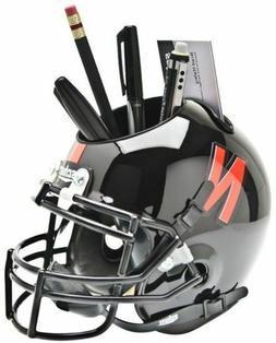 NEBRASKA CORNHUSKERS - BLACK - Mini Helmet Desk Caddy