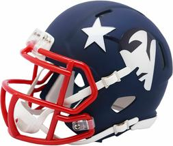 New England Patriots Amp Alternate Riddell Speed Mini Helmet