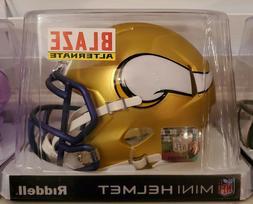 New Riddell Minnesota Vikings Blaze Alternate Mini Helmet. N