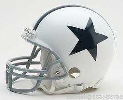 NEW WHITE DALLAS COWBOYS MINI FOOTBALL HELMET