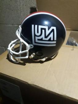 New york giants 1975 throwback riddell mini helmet metal fac