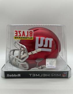 New York Giants Riddell Blaze Alternate Mini Helmet!!! Date