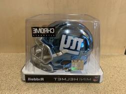 New York Giants NFL Riddell Speed Mini Football Helmet Chrom