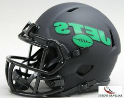 NEW YORK JETS - Black Eclipse Riddell Speed Mini Helmet