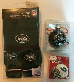 New York Jets Kids Hat and Gloves Set Pocket Size Mini Helme
