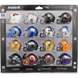 NFC Conference Set Riddell Pocket Pro Mini Football Helmet -