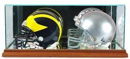 Perfect Cases NFL Double Mini Football Helmet Glass Display