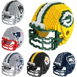 NFL Football 3D BRXLZ Mini Helmet Puzzle Construction Block