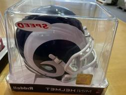 NFL Los Angeles Rams Speed Mini Replica Helmet, White, Mediu