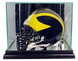 Perfect Cases NFL Mini Football Helmet Glass Display Case, B