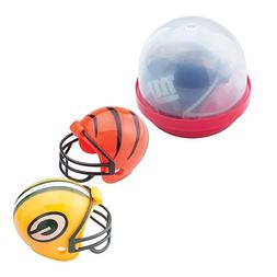 "SmileMakers NFL Mini Football Helmets in 2"" Capsules - Capsu"