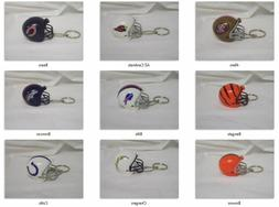 NFL Mini Plastic Helmet Pencil Topper Key Chain with Ring -S