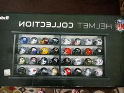 NFL Revolution Pocket Pro League Helmet Set in Wood Display