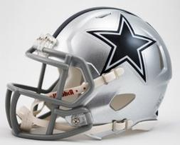 NFL Riddell Dallas Cowboys Mini Speed Helmet - Silver