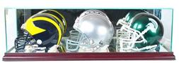 Perfect Cases NFL Triple Mini Football Helmet Glass Display
