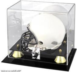 Northwestern Wildcats Logo Mini Helmet Display Case | Detail